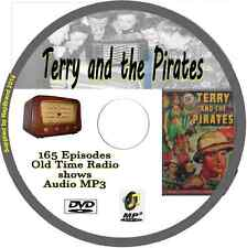 Terry and the Pirates 165 OTR Old Time Radio Episodes Audio MP3 on DVD Adventure