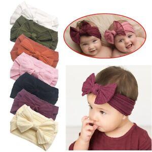 Newborn Bow Baby Rabbit Headband Cotton Elastic Bowknot Hair Band Girls Bow-knot