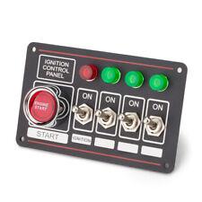 LED Toggle Ignition Switch Panel Engine Start Push Button 12V Racing Car Black