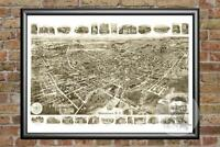 Old Map of Middletown, NY from 1921 - Vintage New York Art, Historic Decor