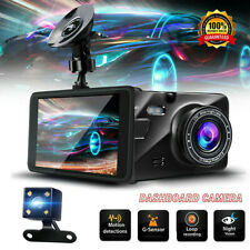 """New listing 4"""" 1080P Fhd Dash Cam Car Dvr Front and Rear Camera Video Recorder Night Vision"""