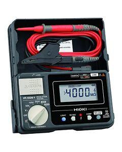 [HIOKI] IR4051-10 5 range Digital ohmmeter Battery + Lead code