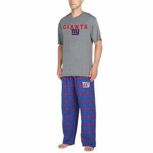New York Giants NFL Men's Pajama Sleep Lounge Shirt/Pants Set