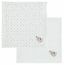 Steiff Newborn Baby 2er mulltücher Diaper bärenapplikation dots blanco nuevo