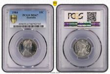 1984 Australia 10 Cents PCGS MS67 Uniquely Detailed Flashy Coin