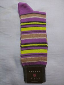 ROBERT TALBOTT MENS NEW PURPLE 80%COTTON 20%NYLON DRESS SOCKS FIT SHOE SZ:7-13