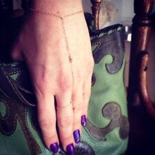 Simple, Everyday 14K Gold-filled Ball and Chain Finger-Bracelet/Kardashian Chain