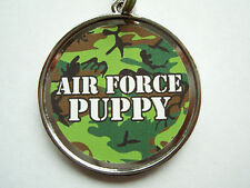 Air Force Camouflage Military Dog Name Tag Pet ID Tags Dog Tag