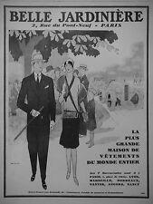 PUBLICITÉ 1928 BELLE JARDINIÈRE LA GRANDE MAISON DU VÊTEMENTS - JEAN ROUTIER