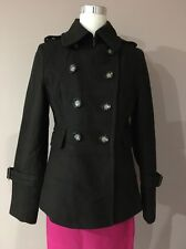 michael kors Olive Green Short Double Breasted Wool Blend Jacket Coat Winter 8-m