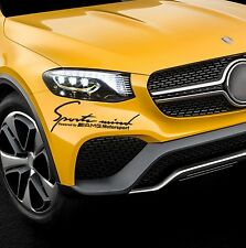 SPORTS MIND Powered By For AMG Motorsport Door Bumper Car Vinyl STICKER Decal