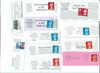 UK Various interesting postmarks on stamps x 24 (Batch 5)