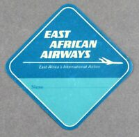 EAST AFRICAN AIRWAYS EAA VINTAGE ORIGINAL AIRLINE LUGGAGE BAGGAGE BAG LABEL