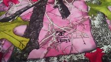 """Bridal Satin Camo Fabric Sassy B Pink True Timber 58""""W Hunting Camouflage By Yd"""