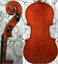 Superb Old Antique Violin 4/4 Gorgeous Flamed Wood Ready to Play 4/4 See Video!