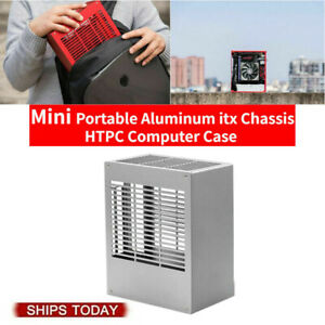 Silver SGPC K39v2 Mini Aluminum itx Chassis HTPC Computer Case For i5/R5 2021NEW
