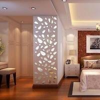 12Pcs DIY 3D Mirror Vinyl Removable Wall Stickers Decal Art Home Mural Decor Hot
