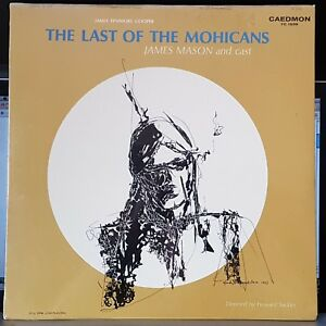 James Mason, Last of the Mohicans, LP record sealed, Gladys Goldstein art cover