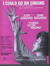 I Could Go On Singing 1962 Judy Garland Sheet Music