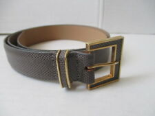 Emmanuel Gray Genuine Reptile Leather Belt size M made in Canada
