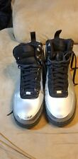 Nike Air Force 1 High Foamposite Silver Size 14 Men Cleaned