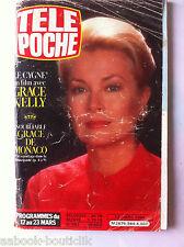b)Télé poche 13/03/1984; Inoubliable Grace de Monaco/ Jeane Manson Radio Poche