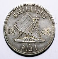 1943 Fiji One 1 Shilling - George VI - Lot 665