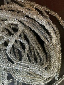 A LOT OF  12 Clear Crystal Glass  Beads Chandelier Lamp Part
