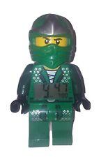 Lloyd Lego Ninjago Mini Figure Alarm Clock Tested and Working Green
