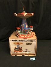 JW Nurnberger TIN CAROUSEL MECHANICAL WIND UP TOY w/BOX-Made/Germany NEW
