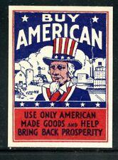 USA Uncle Sam Poster Stamp Depression Bring back Prosperity Farm Barn Industry