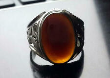 Real Totally Handmade Mens Red Aqeeq | Agate ring Sterling Silver 925
