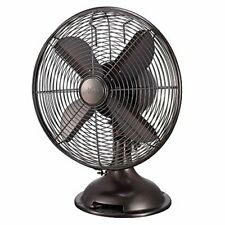 """NEW 12"""" Retro Table Fan in Oil-Rubbed Bronze, 3-speed,Vintage style Design !"""