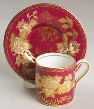 Wedgwood Tonquin Ruby Bond Demitasse Cup & Saucer 900169