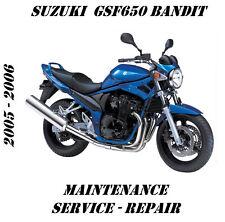 Suzuki GSF650 Bandit 650 Workshop Maintenance Service Repair Manual 2005 2006
