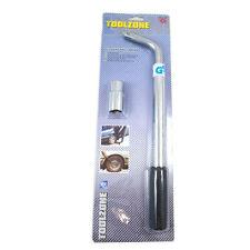 Car Van Telescopic Extendable Wheel Brace Wrench Bar 21 Long 17mm 19mm Socket