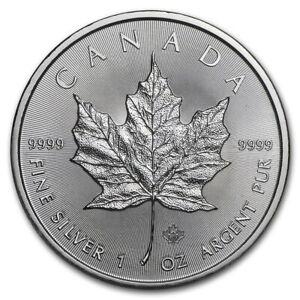 2020 Canada $5 Fine Silver Maple Leaf - 1 oz. fine