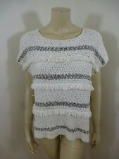 *Ann Taylor Loft* NWT Off-White Cap Sleeve Stretch Woman Top Sweater Size M