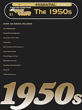 E-Z jugar hoy 51-el Teclado 1950s-años cincuenta fácil Música Libro EZ SFX Grande Nota