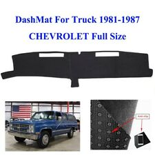 Dashboard Sun Cover Dash Mat For 1981-1987 Black CHEVROLET Full  Size  Anti-Slip