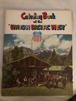 Original 1940s Union Pacific Railroad Coloring Book Titled, UNION PACIFIC WEST