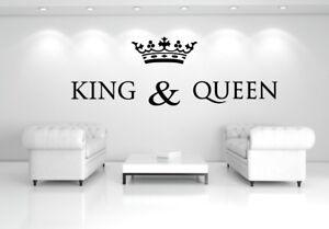 Wandtattoo KING & QUEEN  für Schlaf-, Wohnzimmer