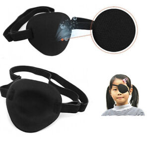 Concave Eye Patch Foam Groove Eyeshades Adjustable Strap Medical Washable