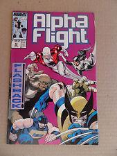 Alpha Flight 52 . Wolverine App .  Marvel 1987 -  FN / VF