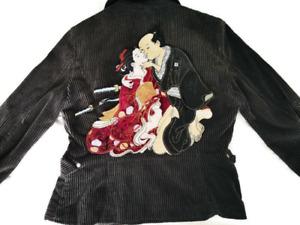 Huge Japanese Love Samurai Embroidered and Velvet Patch for Jacket Back (Ref B1)