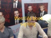 WESTLIFE HAND SIGNED AUTOGRAPH OUR STORY HARDBACK BOOK W PROOF PHOTO POP MUSIC