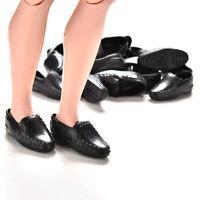 EB_ 1 Pair Handmade Black Cute Male Shoes For Barbie Boyfriend Ken Doll Gift Eag