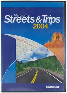 MICROSOFT OFFICE Streets & Trips 2004 CD-ROM 2-Disc SET Customizable Maps MS PC