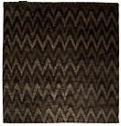 Contemporary Ikat Rainbow Geometric Gray and Black Handmade Rug N10158