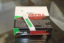Box of 12 packs w/ 10 units Sailor Visible Green Ink Permanent Marker Refill